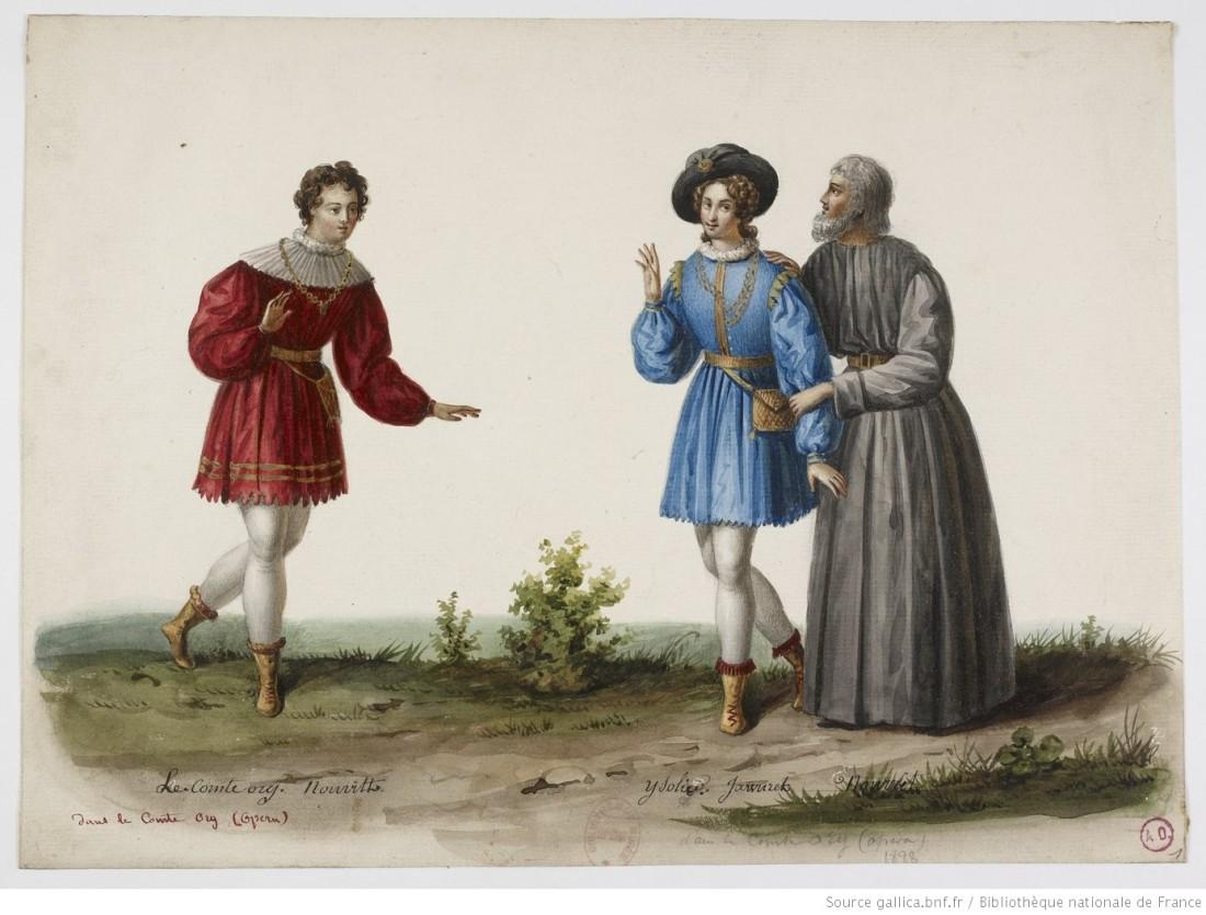1. Le comte Ory, Nourrit, Isolier, Jawureck, Nourrit;