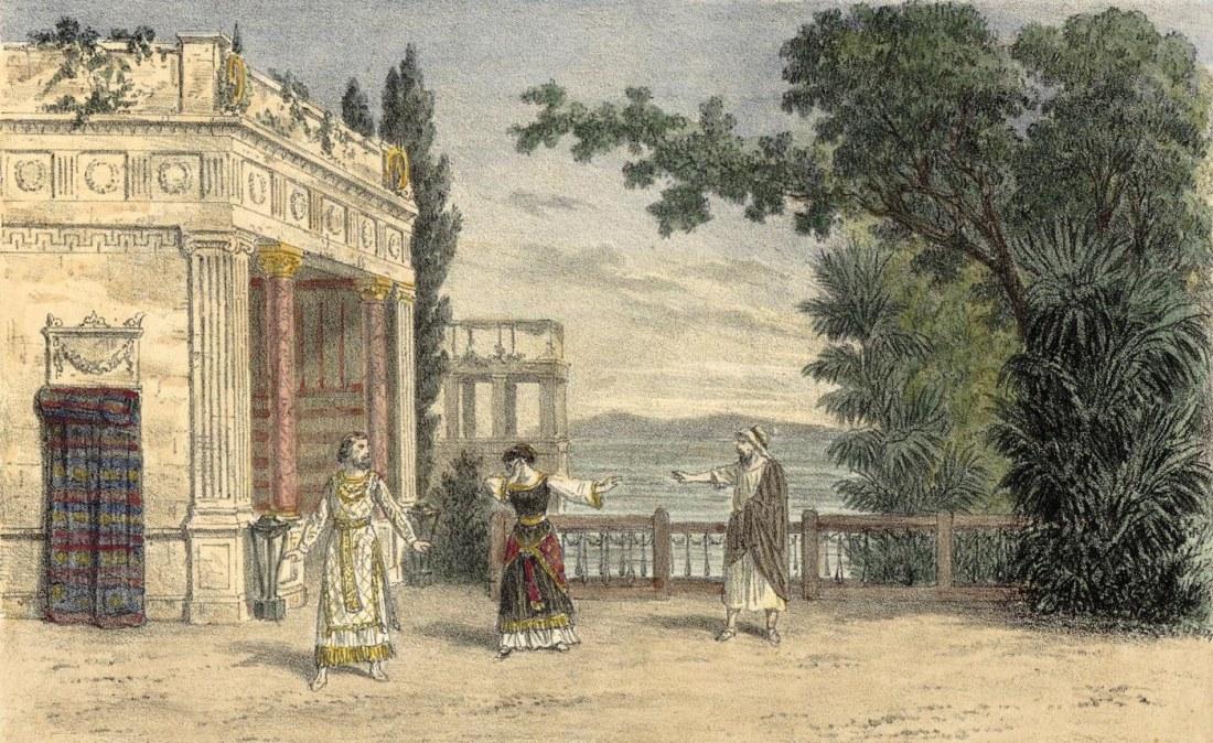 Act I. estampe de Jules Gaildrau du décor de la création à la Monnaie de Bruxelles.jpg