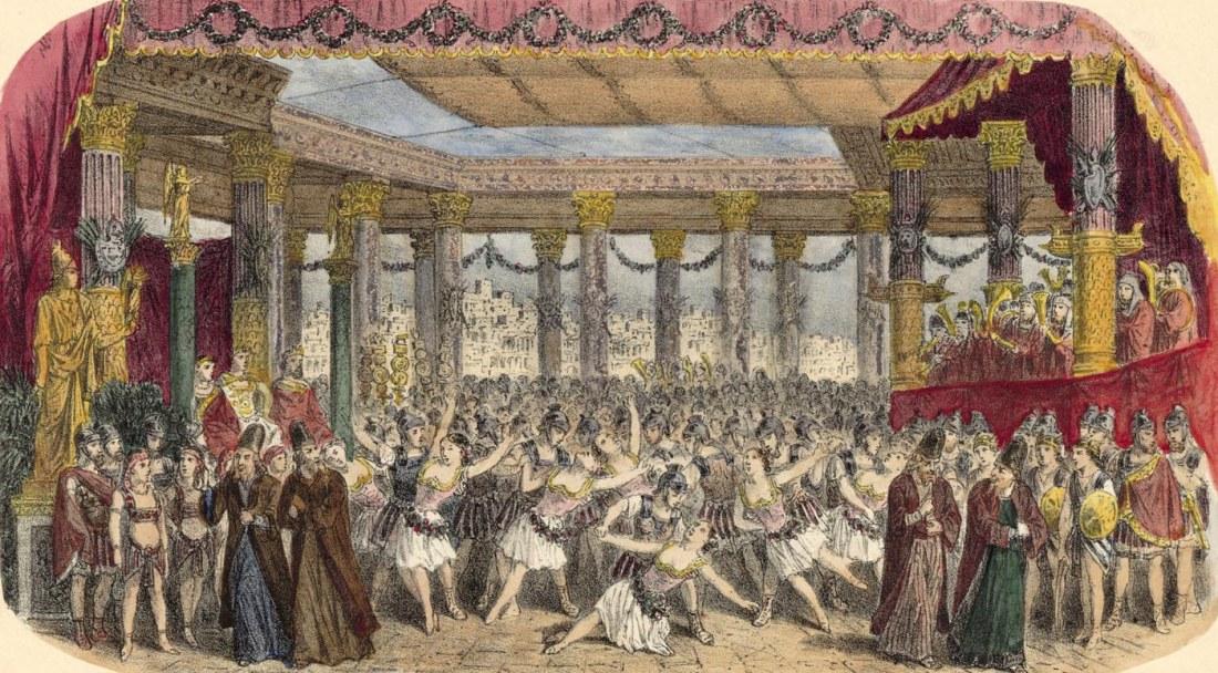 Act IV. 2e tableau. estampe de Jules Gaildrau du décor de la création à la Monnaie de Bruxelles.jpg
