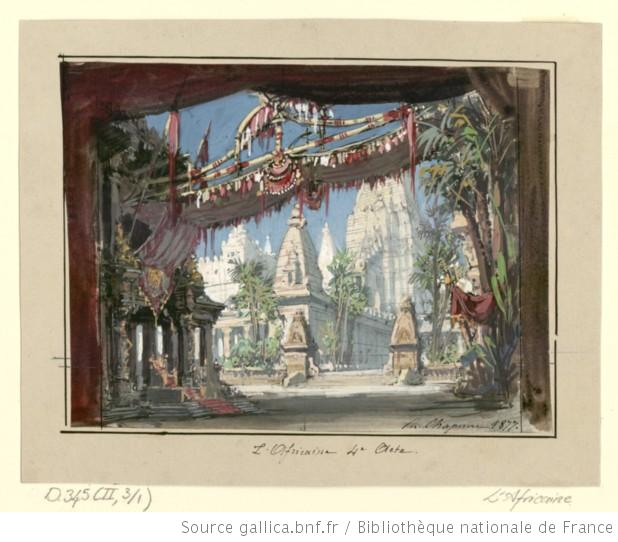 Act IV - esquisse de décor 1877