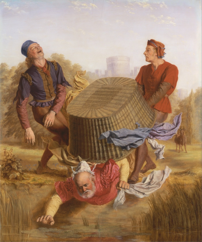 John_S._Clifton_-_Buck_Washing_on_Datchet_Mead_from_'The_Merry_Wives_of_Windsor,'_III,_v_-_Google_Art_Project.jpg