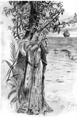 Selika at the Mancinille tree.JPG
