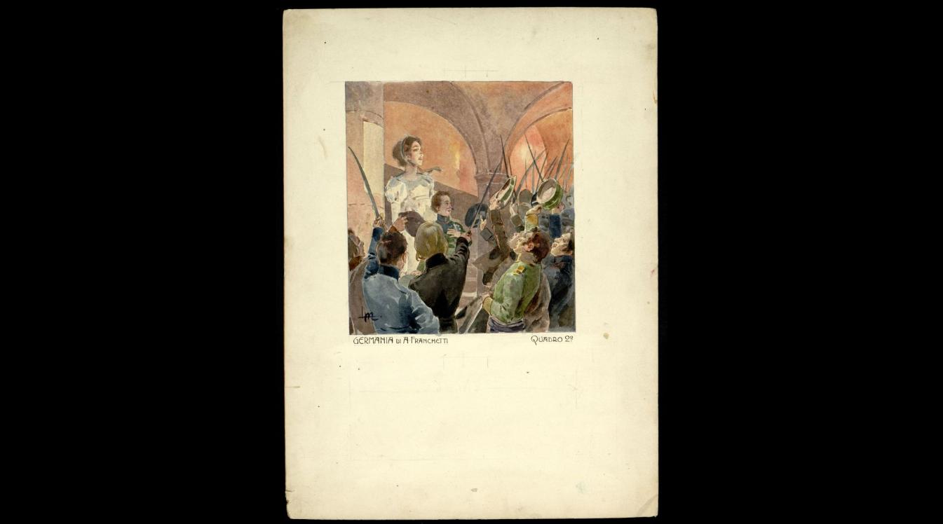 Act II - Apparizione di una Donna e di uno dei suoi figli con in mano un mazzo di gigli azzurri.png