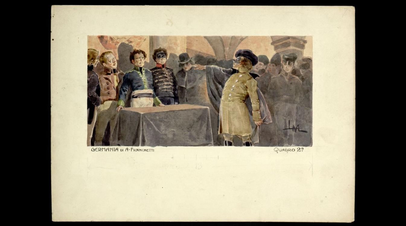 Act II - Un adepto mascherato in piedi davanti a Worms e agli altri Fratelli.png