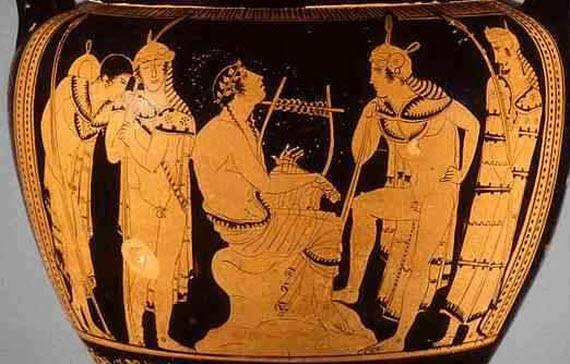 Orpheus - Greek vase