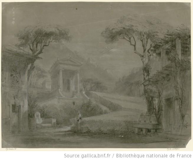 1858 acte I, tableau 1 - esquisse de décor de l'acte I.jpg