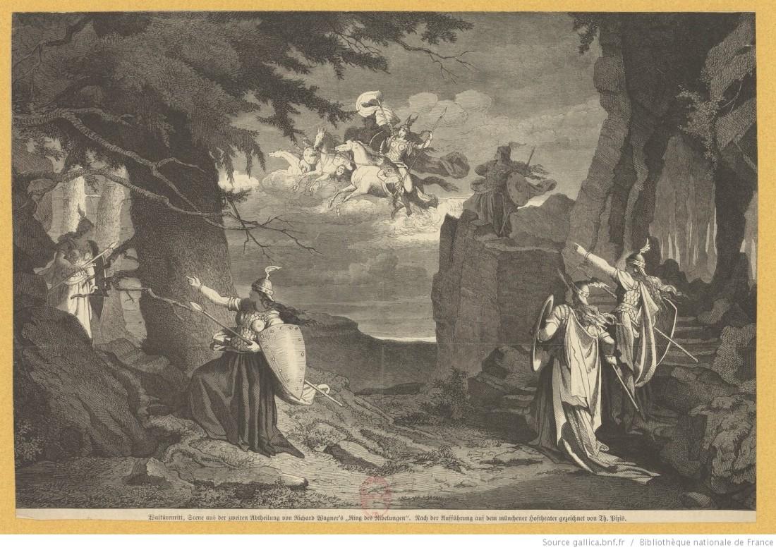 Walkürenritt, Scene aus der zweiten Abtheilung von Richard Wagner's Ring des Nibelungen - nach der Aufführung auf dem münchener Hoftheater .jpg