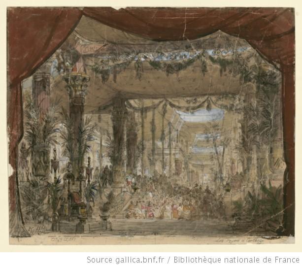 Les Troyens à Carthage - Acte I - esquisse de décor - salle de verdure du palais de Didon à Carthage.jpg