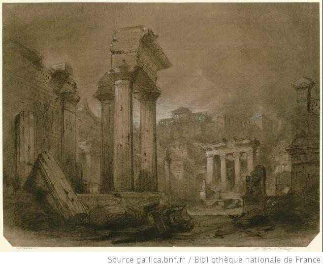 Les Troyens à Carthage - esquisse pour le rideau du prologue - l'incendie de Troie - Charles Cambon.jpg