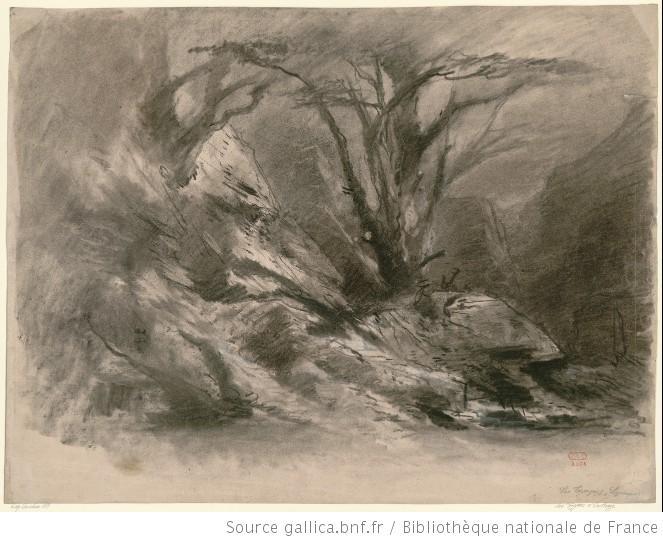 Les Troyens à Carthage - l'intermède symphonique se situant entre l'acte I et II, chasse royale - une forêt vierge d'Afrique, la foudre vient de frapper un arbre.jpg