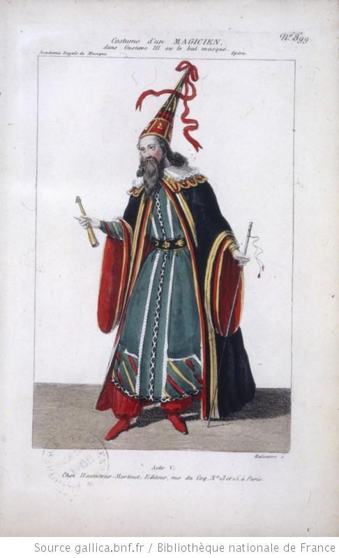 costume d'un magicien