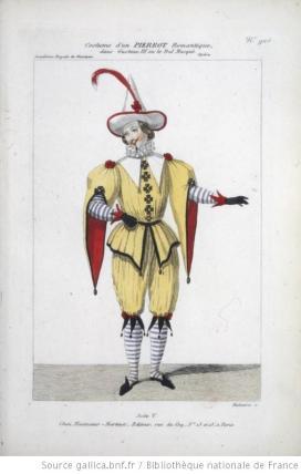 costume d'un Pierrot romantique