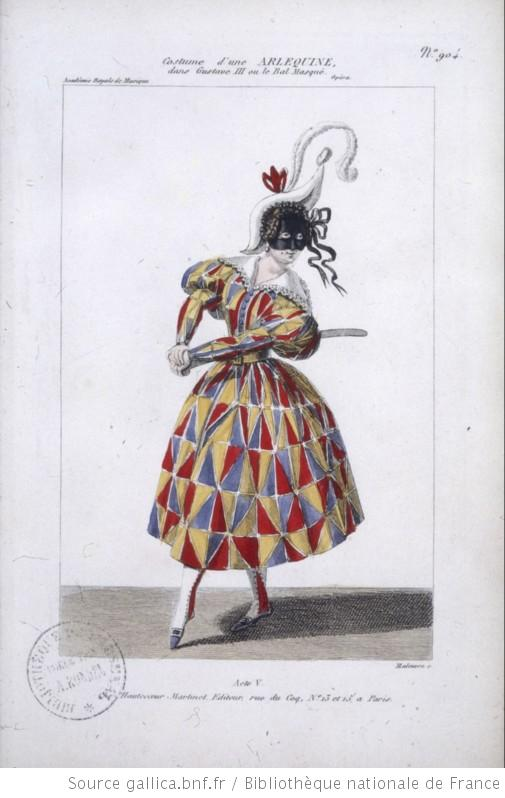 costume d'une Arlequine