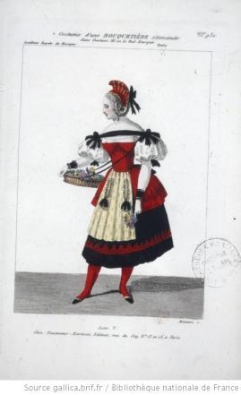 costume d'une bouquetière allemande