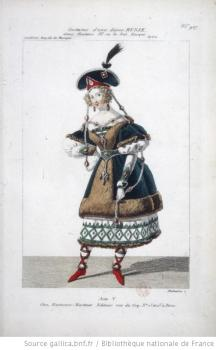 costume d'une dame russe