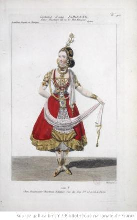 costume d'une Indienne