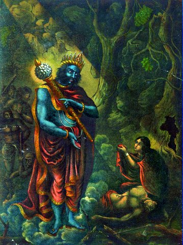 Savitri's defeat of the god of death, Yama.jpg