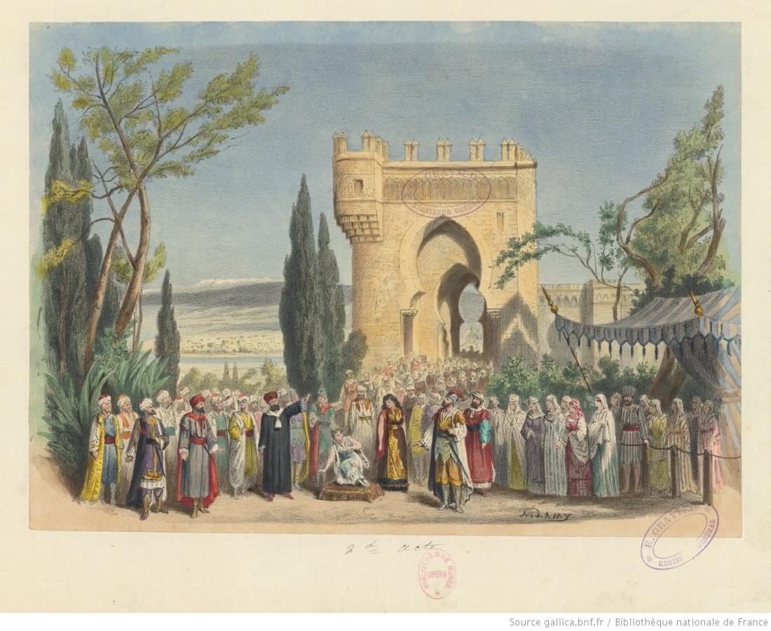 acte 2, entrée de Cordoue, d'après le décor de Lavastre