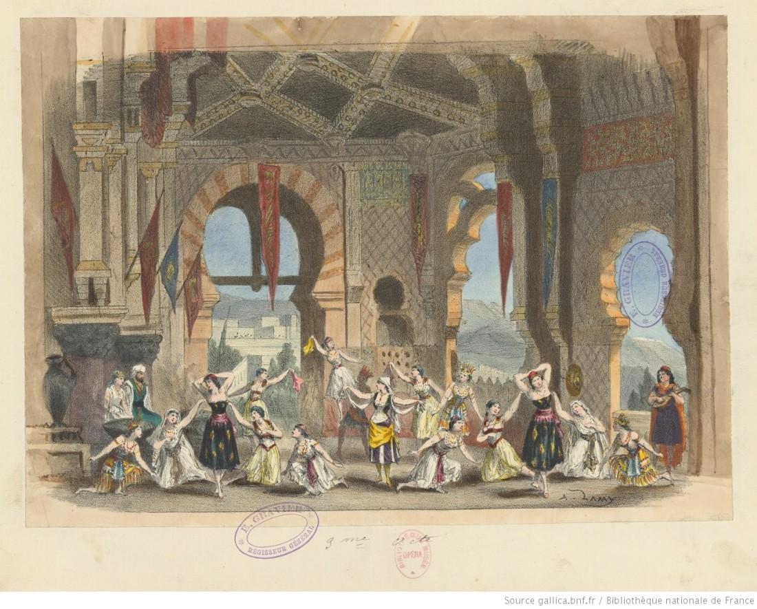 Acte 3, le palais de Ben Saïd, d'après le décor de Carpezat