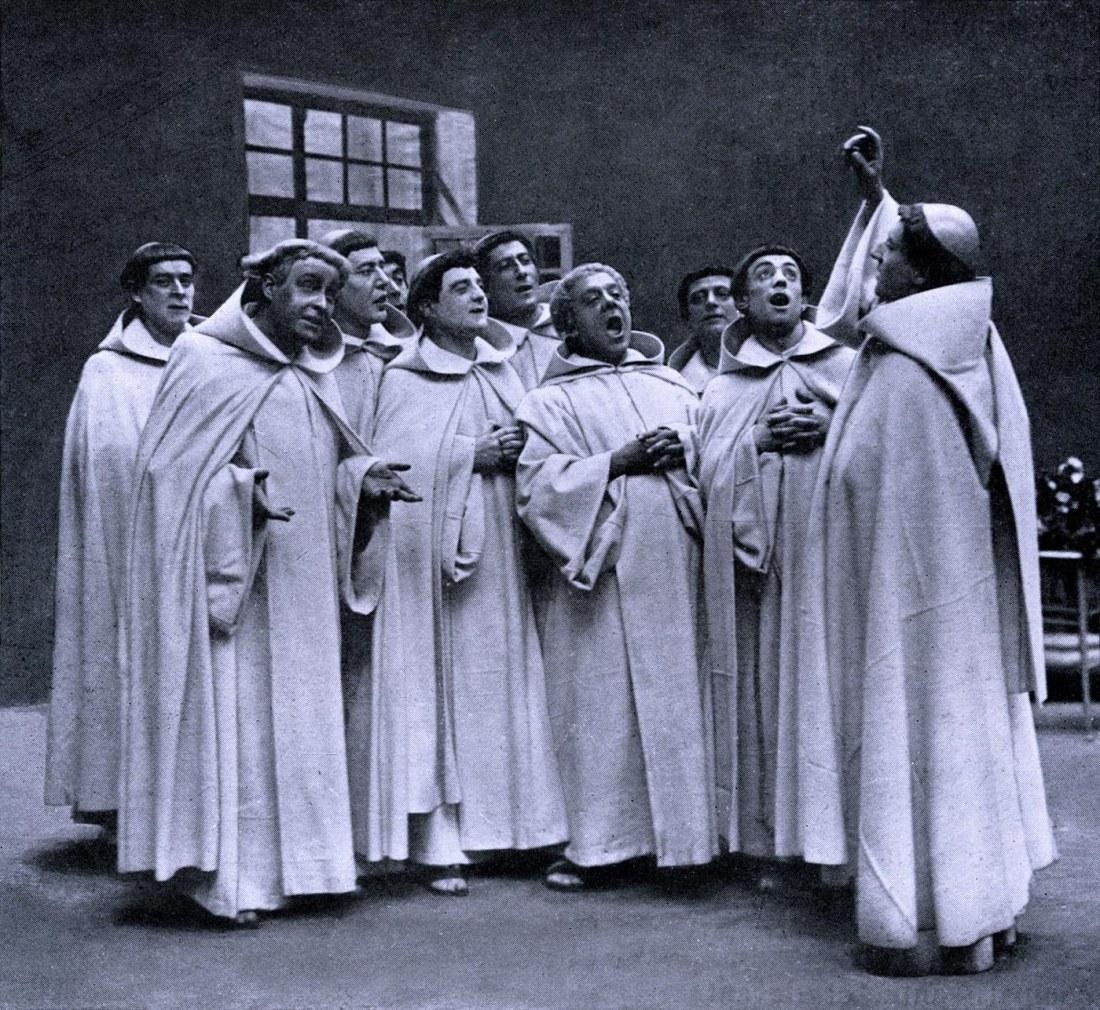 Acte II - Scène des Moines répétant l'hymne consacré à la patronne de l'abbaye,.jpg